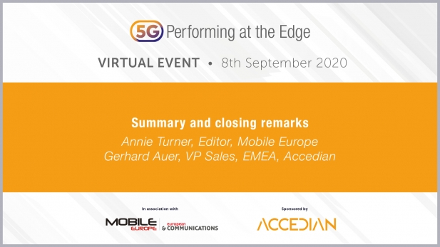 5G: Performing at the Edge 2020 Day 1: Summary and closing remarks