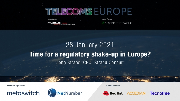 Telecoms Europe 2021 – Time for a regulatory shake-up in Europe? By John Strand, CEO, Strand Consult
