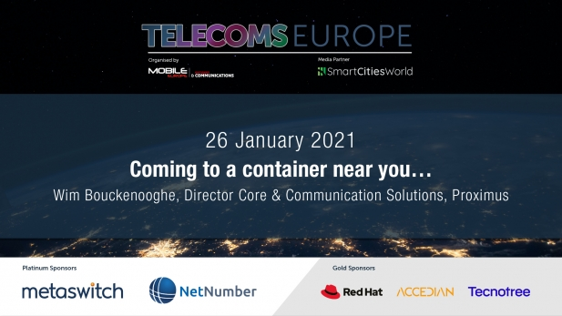 Telecoms Europe 2021 – Coming to a container near you…, by Proximus